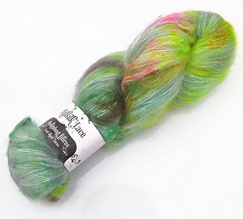 Hedgehog Fibres Kidsilk Lace – Fb. Parklife, 50g exklusives Lacegarn Mohair Seide handgefärbt in brillianten Farben