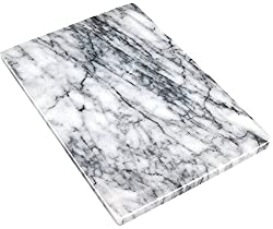 small Greenco GRC0555 Pastry  Cutting Board 8 x 12 White Marble