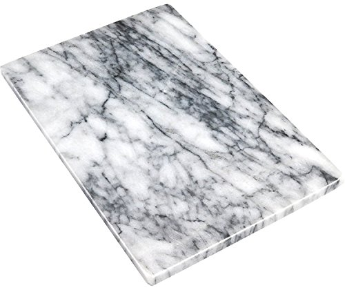 Greenco GRC0555 Pastry and Cutting Board, 8 x 12, White Marble