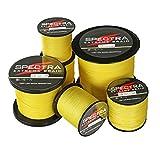 Times Spectra Extreme Braid Braided Fishing Line 6-300LB Test 100m-2000m Yellow (300m/328Yards 30lb/0.26mm)