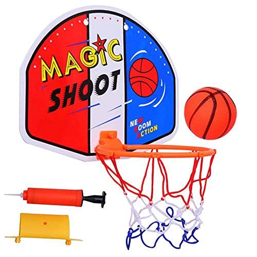 FXQIN Canasta De Baloncesto Pared con Bomba De Red Y Bola, Tablero De Baloncesto Juego Al Aire Libre y Interior Oficina Habitación Jardín Basketball Hoop para Niños y Adultos