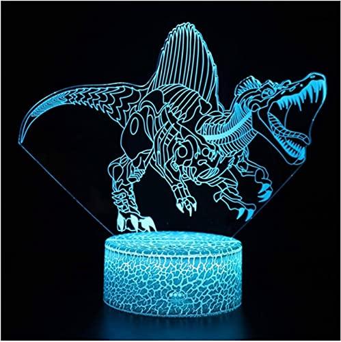 Lámpara De Acrílico Temática De La Serie De Dinosaurios, Lámpara Led 3D, Decoración De La Habitación Del Hogar, Luz, Regalo Para Niños, Lámpara De Humor, Regalo De Navidad