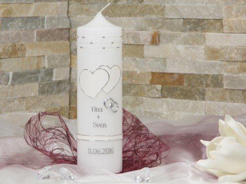 Hochzeitskerze Traukerze Kerze zur Hochzeit 2260