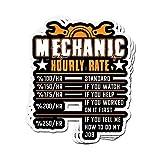 DKISEE Lot de 3 autocollants humoristiques pour mécanicien avec taux horaire GIF pour hommes