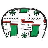 Bennigiry Trousse de toilette multifonction avec fermeture Éclair Motif chaussette de Noël Vert