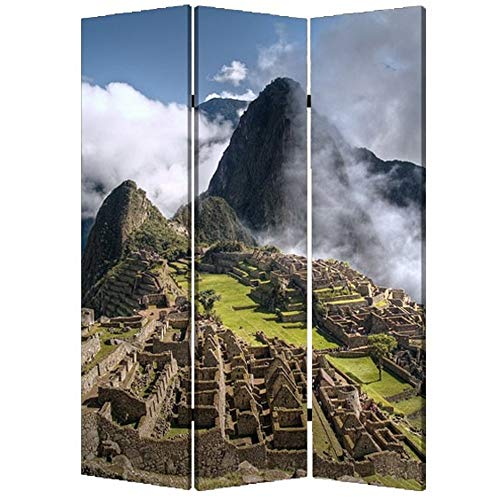 Best Deals! 3 Panel Foldable Canvas Screen with Print Multicolor Multi Color Modern Contemporary Rec...