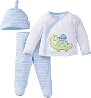 """Gerber Newborn Baby Boy Layette Set """"Take Me Home"""" Outfit Blue"""