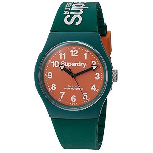Superdry Reloj Analógico para Hombre de Cuarzo con Correa en Silicona SYG164ON