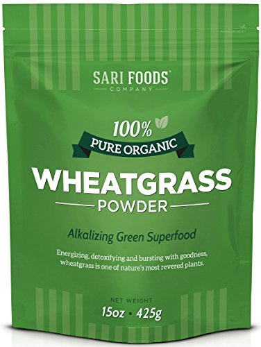 Organic Wheatgrass Powder (15 Ounce): Natural Vegan Whole Food Fiber, Chlorophyll, Antioxidants, Vitamins...