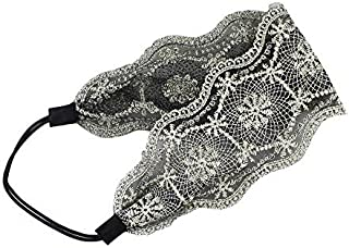 Women Lace Headband Retro Hair Band Wide Hairband Hair Accessories