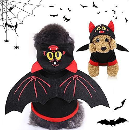 Pet Halloween Bat Wings Disfraz, Disfraz Halloween Perro, Disfraces de Halloween para Mascotas, Mascotas Disfraces de Alas de Murciélago, Disfraz De Murciélago para Perro, Perros Disfraces de Cosplay