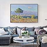 Claude Monet ANTIBES VUE DU PLATEAU NOTRE-DAME Pinturas de arte en lienzo famosas Impresionistas Impresiones en lienzo Decoración para el hogar 40x60cmx1pcs sin marco