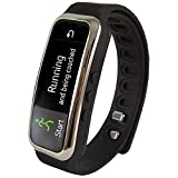 Super Sonic Inc Supersonic SC-61SWBK Bluetooth Smart Wristband Fitness Tracker, Black