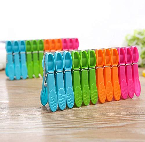 WeyTy Wäscheklammern, Hochwertiges Design Wäscheklammer Set - Klammern aus stabilem Kunststoff - für Wäscheleine oder Wäscheständer/Wäsche/Strandtuch/Badetuch/Teppich etc (48 Stück)