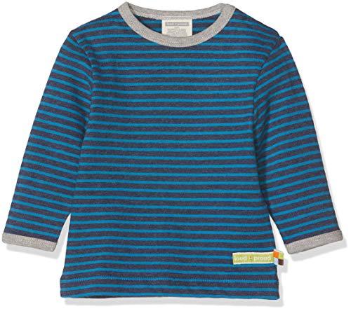 loud + proud loud + proud Kinder-Unisex Shirt Ringel Sweatshirt, Blau (Midnight Mi), 56