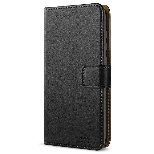 HOOMIL Cover Huawei P10 Lite, Flip Caso in Pelle Premium Portafoglio Custodia per Huawei P10 Lite (H3172, Nero)