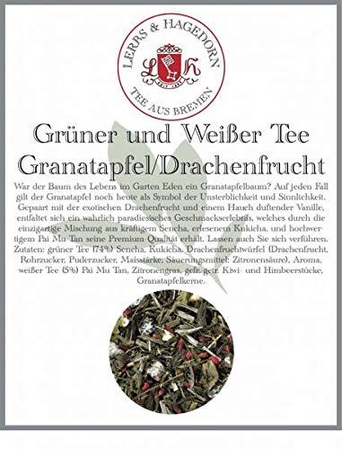 Grüner und Weißer Tee Granatapfel/Drachenfrucht 1 kg - Granatapfel-Drachenfrucht