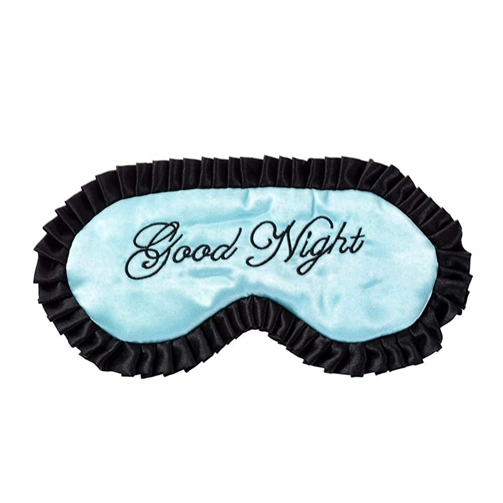NOTE 1ピース新しい快適な模造シルクサテンワード睡眠マスクアイカバーパーソナライズされた旅行睡眠マスクドロップシッピング