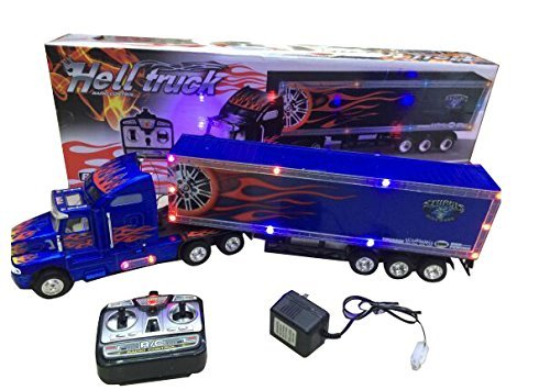 Big-Daddy Series Extra Large Super Duty Tractor Trailer with Light & Music Colors May Very Black & Blue