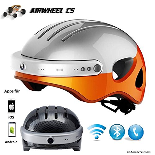Airwheel C5 Intelligent Helmet with Front Camera and Bluetooth Speaker for Cycling, Mounting, Skateboarding