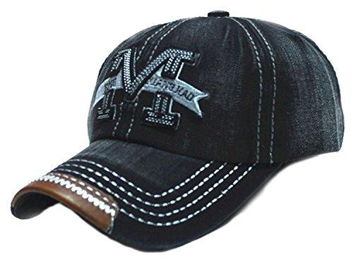 Gorra de béisbol con visera, talla M, estilo hip-hop multicolor negro Regular (Ropa)