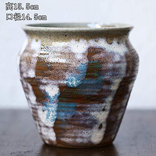 Ademende sappige bloempot creatieve keramische plant oude stapel steengoed groen aardewerk pot grote handgemaakte platter roze