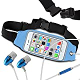 N4U Online® Fitness Sports Waistband Case & Handsfree For