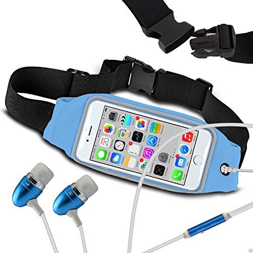 N4U Online Fitness Sports Waistband Case & Handsfree For Acer Liquid Z520 - Baby Blue