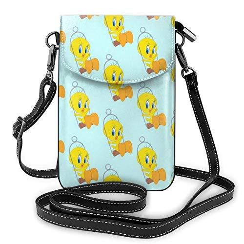 AOOEDM Tweety Yellow Duck Handy Geldbörse Umhängetasche Travel Daypack Frauen Mädchen Party Geschenk