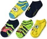 SpongeBob Squarepants Boys' Little Spongebob 5 Pack No Show Socks, assorted, 6-8.5