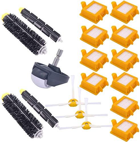 DONGYAO Repuesto de rueda delantera de rueda de repuesto cepillo flexible para batidor compatible con Irobot Roomba serie 700 760,770,780,790 Robot aspirador accesorio para aspiradora