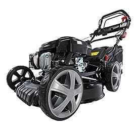 BRAST Tondeuse thermique autopropulsée 46 cm, 196cc, moteur de marque 4 temps, 6cv, 60 l, réglage central 30-80mm, boîte…
