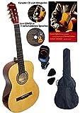 Clifton Guitarra de concierto natural 4/4, juego con libro,