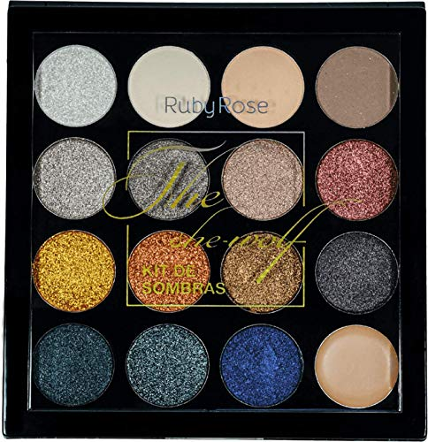 Sombras Maquillaje Metalico marca RUBY ROSE