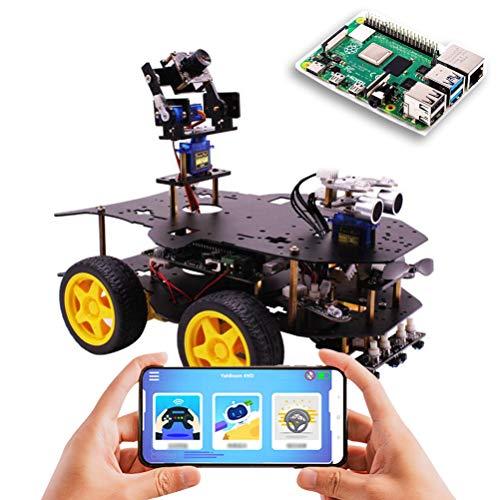 ANAN Programable Coche Robot Raspberry Pi, DIY Smart Robot Kit Car, Transmisión de Video 5G FPV en Tiempo Real, con módulo ultrasónico, Módulo de evitación de obstáculos