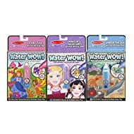 Melissa & Doug On The Go Water Wow Bundle Fairy Tale, Makeup & Manicures and Under the Sea