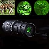 ACHICOO 40X60 HD Telescopio monocular óptico de visión Diurna y Nocturna para Caza, Camping, Senderismo, Productos informáticos para Viajes/Trabajo