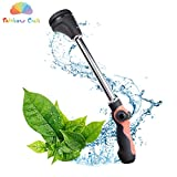 Rainbow Craft 8-Pattern - 16'' Watering Wand Sprayer Nozzle for Garden&Lawn, Car Washing, Cleaning Shower and Pets Shower - Heavy Duty Metal Water Wand - Pink Color