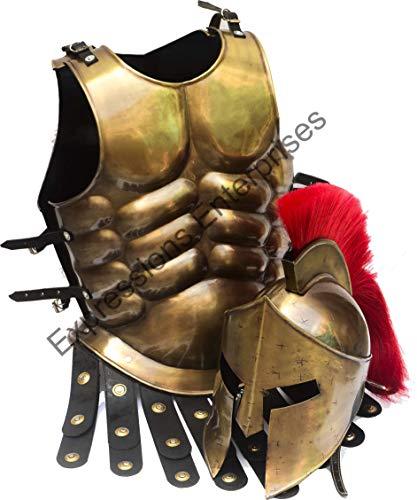 Expressions Enterprises Mittelalterliche Rüstung Brustplatte, Spartan 300 Film Sparta Kostüm, Kriegerjacke, Rollenspiel, Renaissance/Larp/SCA