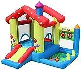 Vivid Diversión al Aire Libre Castillo Hinchable, Castillos hinchables Casa de Juguete para niños para niños Pequeño paradisíaco de trampolín