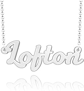 JewelryJo Wilder Necklace Personalized Women Name Custom Circle Pin Glass Light Her Magnetic