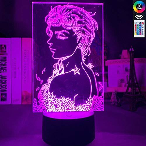 3D-Illusionslampe Führte Nachtlicht-Cartoon Jojo Bizarre Adventure Art Gadget Bunter Berührungssensor Für Wohnkultur Jojo Kindergeburtstag Weihnachtsgeschenke