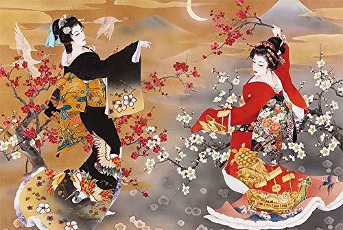 Alesxi Puzzle De Geisha Japonés 1000 Piezas Juego De Rompecabezas De Entretenimiento para Adultos Puzzle De 1000 Piezas Juguetes para Niños