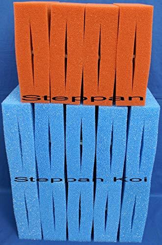 Steppan 14 Stück Filterschwämme geschlitzt 10 Blaue und 4 Rote passend für Oase Biotec 30