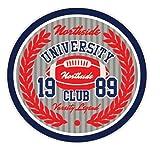 University Northside Club Amercian Football Rugby Sport Emblem Badge Hochwertigen Auto-Autoaufkleber 12 x 12 cm