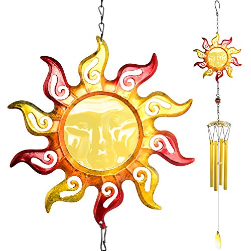 zhengshizuo Wind Chimes,Wind Chimes Outdoor/Indoor,Sunflower Wind Chimes,Gifts for mom,Gifts for Grandma,Birthday Gifts,Garden Decoration,Room Decor,Decor for Yard