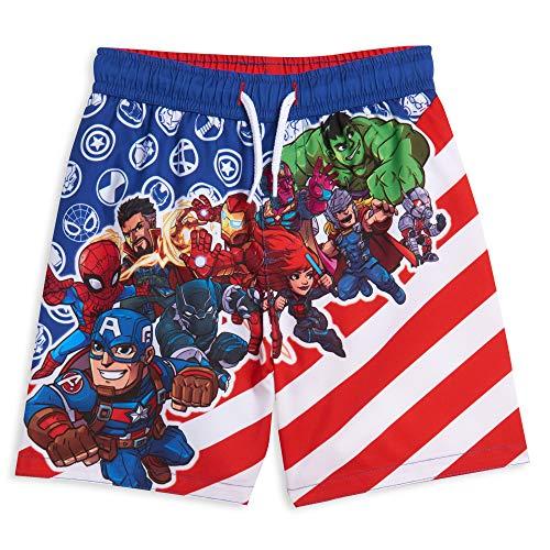 Marvel Avengers Black Panther Captain America Iron Man Spiderman Hulk Thor Toddler Boys Swim Trunks 3T