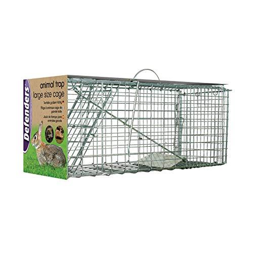 Defenders Animal Trap Cage (Facile da Impostare Trappola Humane per Conigli, Gatti e Animali Selvatici di Dimensioni Simili, Adatto per Uso Interno ed Esterno) - Large Size