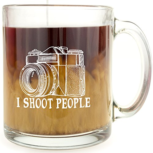 I Shoot People - Glass Coffee Mug - Makes a Great Gift Under $15 for Photographers!