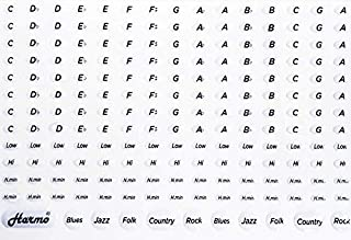Stickers for music keys and harmonica - 191 non removable 3M labels